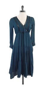 Twelfth St. by Cynthia Vincent Teal Cotton Peasant Dress