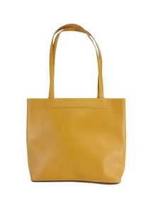 Lamarthe Yellow Leather Basic Tote