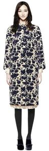 Tory Burch Floral Velvet Jeweled Fall Winter Trench Coat