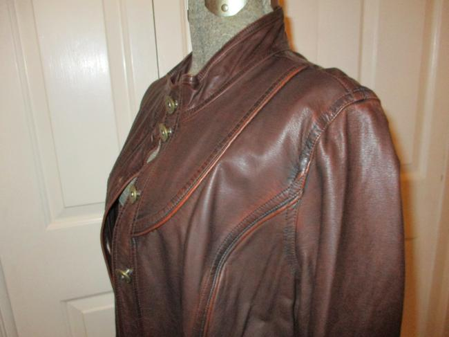 Other Faux Leather Military Jacket