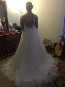 Ball Gown Sweep Train Tulle Wedding Dress