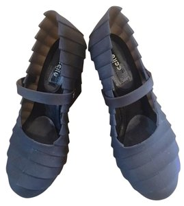 CCILU Jelly Rubber Unique Grey Wedges
