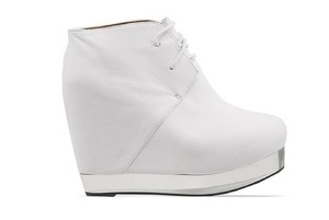 Jeffrey Campbell Leather White Wedges