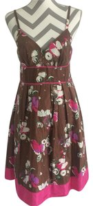 Guess short dress Brown, Pink, Cream on Tradesy