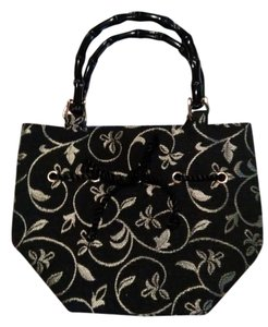 Talbots Bamboo Tote in Black, gold