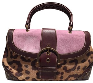 Coach Satchel in Brown/Mulit
