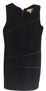 MICHAEL Michael Kors short dress Black with gold zippers on Tradesy
