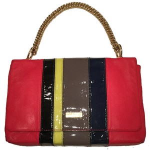 Halston Patent Leather Shoulder Bag