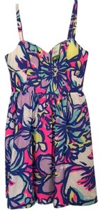 Lilly Pulitzer short dress Bright purple, bright pink, bright blue on Tradesy