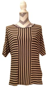 Cable & Gauge Top Black and Beige