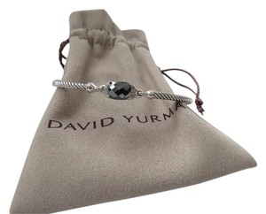 David Yurman Petitie Wheaton Hematine and Diamond Bracelet 3mm, Medium