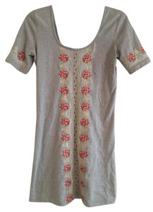 Free People short dress Gray Embroidered on Tradesy