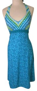Athleta short dress Turquoise Bra-top Halter Activewear on Tradesy