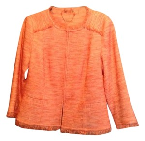 Trina Turk Orange/ White Jacket