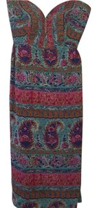 Anthropologie short dress Multicolor with teal and pink on Tradesy