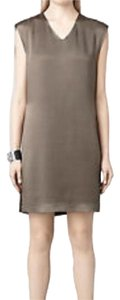 AllSaints short dress Military on Tradesy