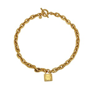 Michael Kors MICHAEL KORS Gold Tone Chain Link Toggle Padlock Necklace MKJ3325