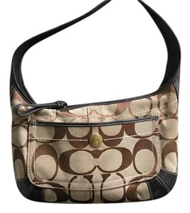 Coach Khaki Brown Shoulder Bag