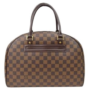 Louis Vuitton Nolita Damier Leather Satchel in Brown