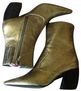Jeffrey Campbell Gold Boots