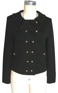 MILLY Knit Jacket Double Breasted Black Blazer