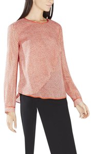 BCBGMAXAZRIA Top Bright Poppy Combo