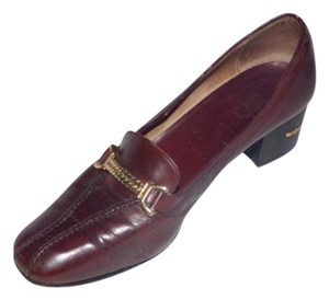 Gucci Comfy Classic Dressy Or Casual Dressier Loafer Horse-bit Accent Excellent Vintage brown leather Pumps