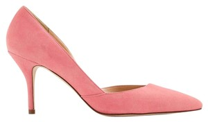 J.Crew Pump Pointed Toe Suede Neon Dahlia Pumps