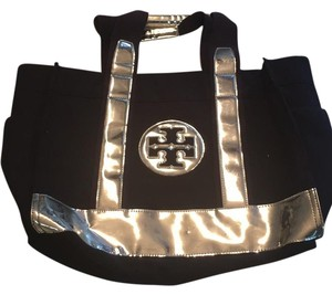Tory Burch Tote in Navy/silver