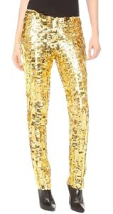Wes Gordon Skinny Pants Gold