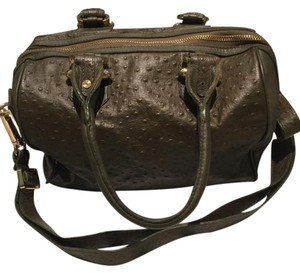 CC SKYE Olive Ostrich Gold Fall Satchel in olive green