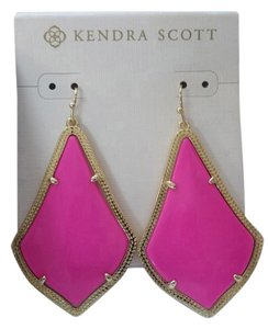 Kendra Scott Alexandra Drop Earrings in Magenta and Gold