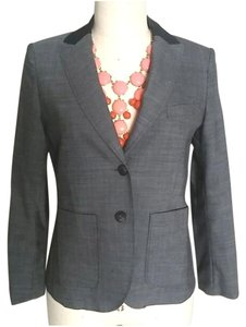 Rag & Bone Woven Jacket Linen Black Grey Blazer