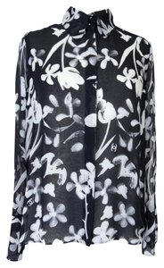 Chanel 04s Flower Top Black White