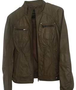 Black Rivet Olive Green Leather Jacket