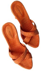 BCBGMAXAZRIA Orange Mules