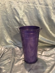 3 Purple Tin Buckets