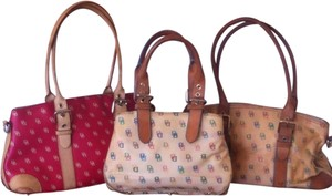 Dooney & Bourke Collection Crossbody & Db Db It Canvas Leather Hobo Signature Buckets Satchel in Multi