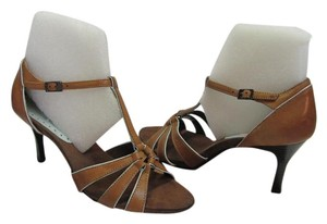 Merona Size 7.50 M (usa) Leather Light Brown Sandals