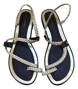 Banana Republic Gladiator Gold and black Sandals