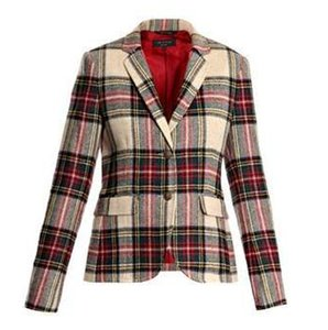 Rag & Bone Plaid Jacket Red Tan Blazer