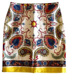 Tommy Hilfiger Paisley Pencil Skirt Multi-Color