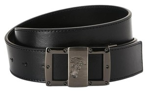 VERACE VERSACE BLACK LEATHER BELT