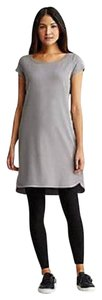 Eileen Fisher short dress PEWTER Ballet Layering Organic on Tradesy