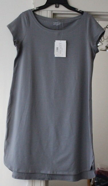Eileen Fisher short dress PEWTER Ballet Layering Organic Cotton Spandex on Tradesy