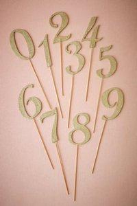 BHLDN Metallic Gold Table Numbers Other