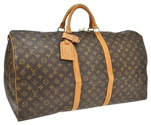 Louis Vuitton Lv Keepall 50 Travel Monogram Travel Tote Monogram Brown Travel Bag