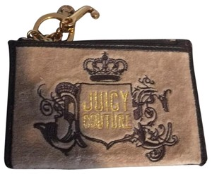 Juicy Couture Wristlet in Tan & Gold