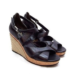 Cole Haan Espadrille Wedge Cork Black Sandals