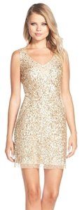 Adrianna Papell Sequin Tulle Sheath Dress